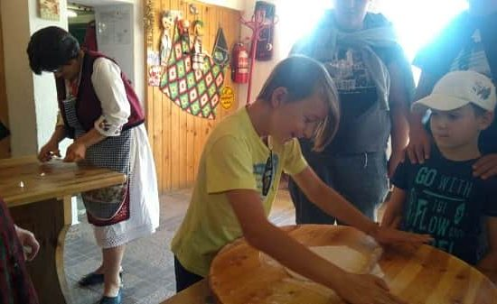 banitsa preparation with kids