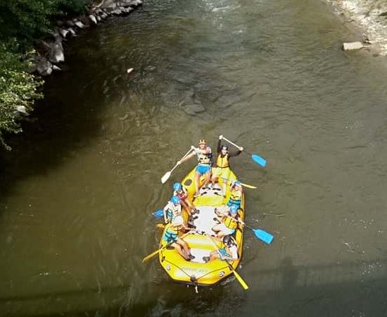 rafting with the kids from the Kresna camp