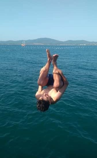 fun with jumps during sea camps
