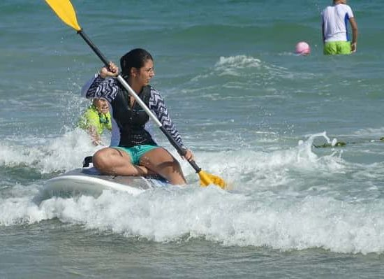 sup exercises during summer camp