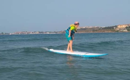 sea camp with surf for children