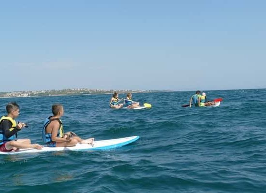 paddling competition at sea camp