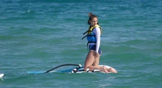 windsurf training for children