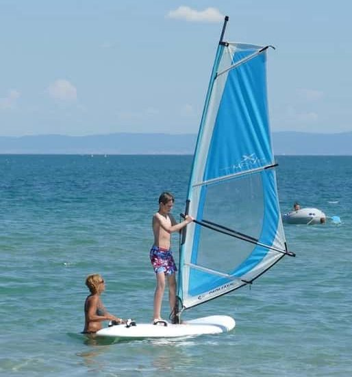 windsurf during summer camp in Bulgaria